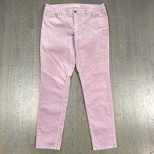 LOFT Lilac Purple Curvy Skinny Corduroy Pants